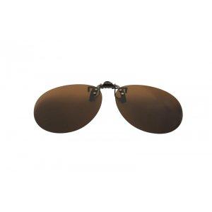 Polarizačný klip na okuliare - hnedý - 5,3 cm x 13,6 cm