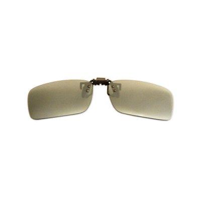 Polarizačný klip na okuliare - zrkadlový strieborný - 3,7 cm x 13,1 cm