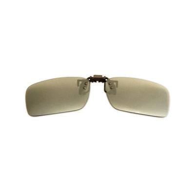 Polarizačný klip na okuliare - zrkadlový strieborný - 3,9 cm x 13,5 cm
