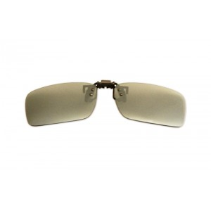 Polarizačný klip na okuliare - zrkadlový strieborný - 4,2 cm x 13,8 cm