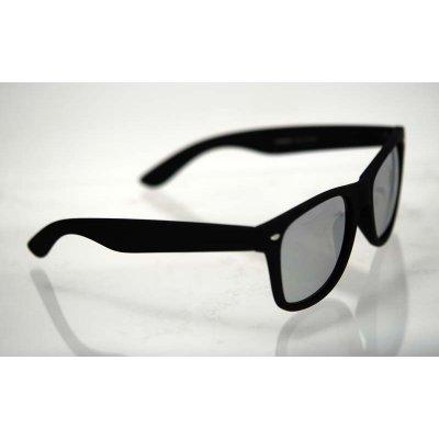 Polarizačné okuliare Wayfarer čierne lesklé silver