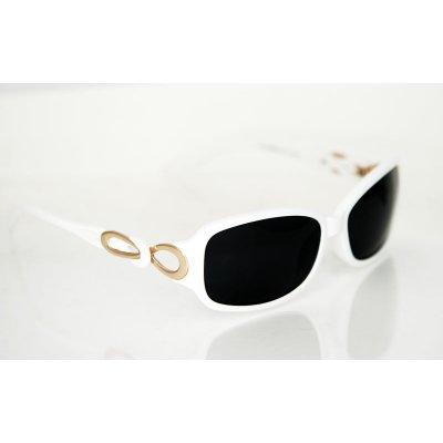 Dámske polarizačné slnečné okuliare Fashion White