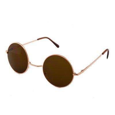 Okuliare Lenonky zlaté hnedé sklá