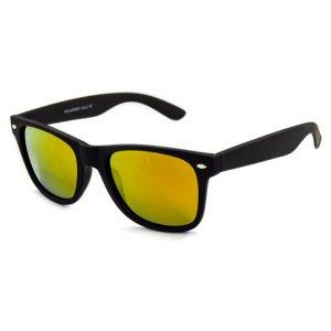 Polarizačné okuliare Wayfarer čierne matné- GOLD