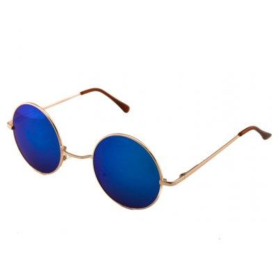 Okuliare Lenonky zlaté zrkadlové modré