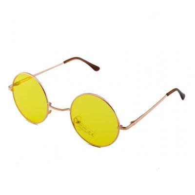 Okuliare Lenonky zlaté žlté sklá
