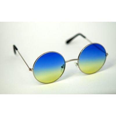Okuliare Lenonky zlaté modro-žlté sklá