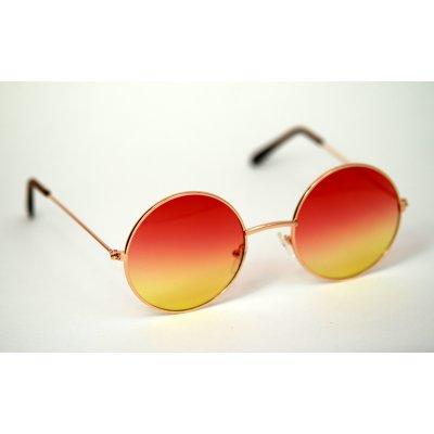 Okuliare Lenonky zlaté červeno-žlté sklá