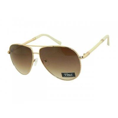 Slnečné okuliare Pilotky Popular White