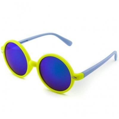 Okuliare Lenonky color zrkadlové modré