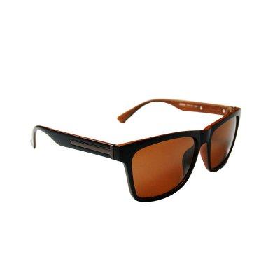 Slnečné okuliare Modern Wayfarer Wood Style BROWN