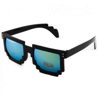 Okuliare - Packman čierne zrkadlové gold new