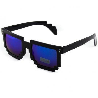 Okuliare - Packman čierne zrkadlové modré