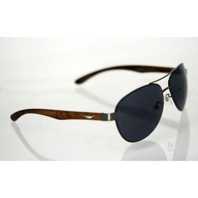 Slnečné okuliare pilotky DREAM hnedé