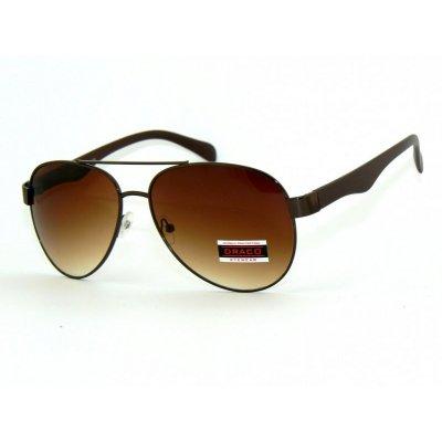 Slnečné okuliare Pilotky CHOCOLATE BROWN