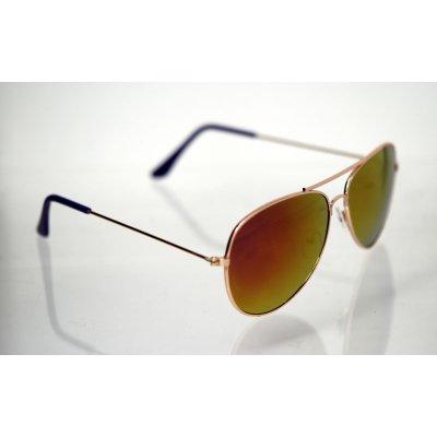 Slnečné okuliare pilotky Clasic Nice GOLD&PINK