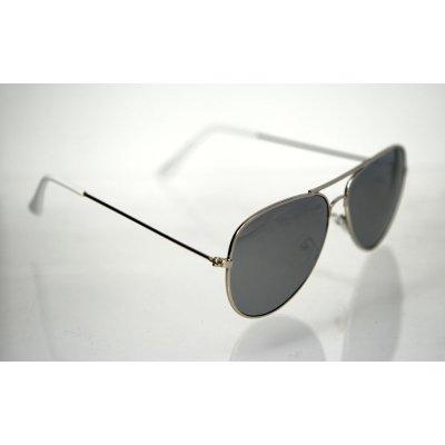 469098711 Slnečné okuliare pilotky Clasic Nice SILVER