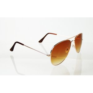 Slnečné okuliare pilotky Clasic Pilot gold BROWN