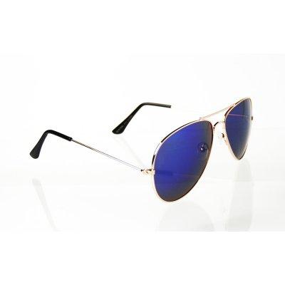 Slnečné okuliare pilotky Clasic Sky gold BLUE