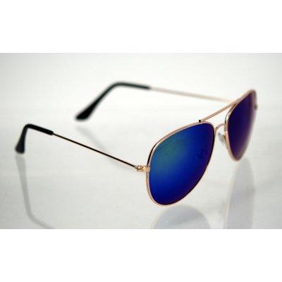 Slnečné okuliare pilotky Clasic Visi BLUE&GREEN