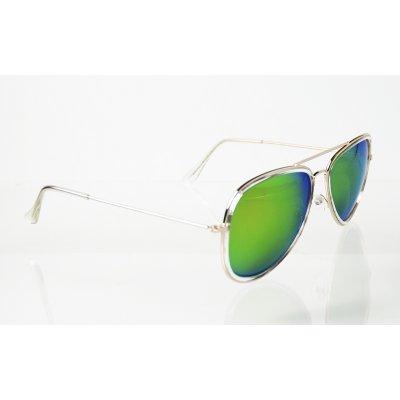 Slnečné okuliare pilotky Frame Line GREEN