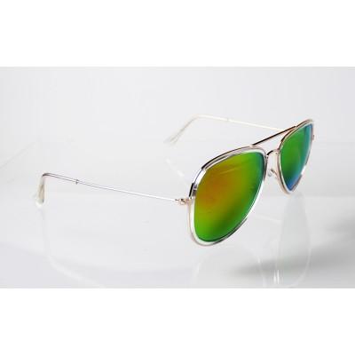 Slnečné okuliare pilotky Frame Line GREEN&RED