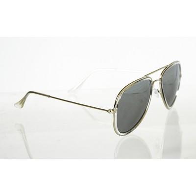 Slnečné okuliare pilotky Frame Line SILVER