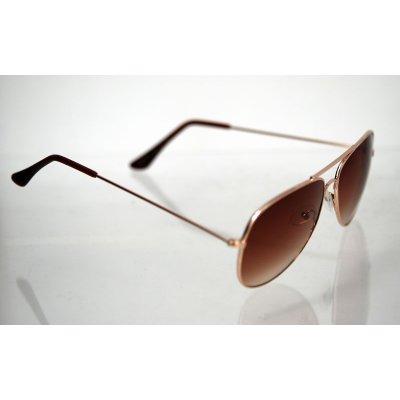Slnečné okuliare pilotky Style BROWN