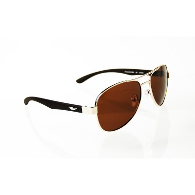 Slnečné okuliare Pilotky Wings BROWN