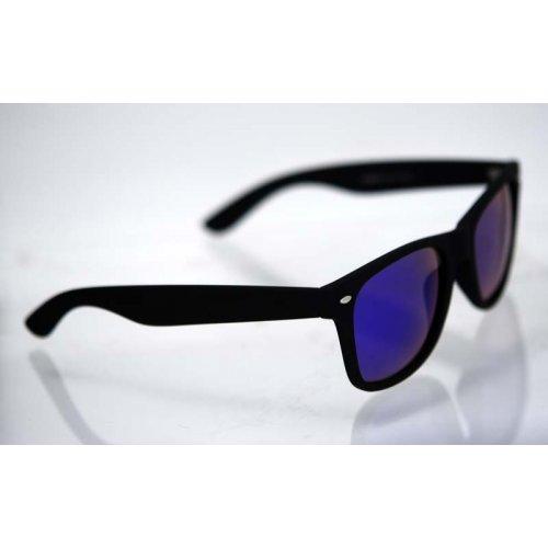 Polarizačné okuliare Wayfarer čierne matné Blue Green 72d0061ff91