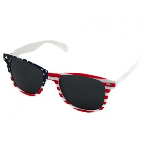 Slnečné okuliare Wayfarer - USA červeno-modro-biele