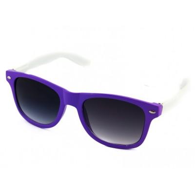 Slnečné okuliare Wayfarer - fialova-biela