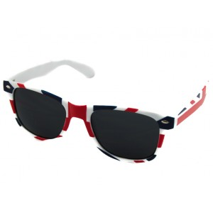 Slnečné okuliare Wayfarer - GB červeno-modro-biele