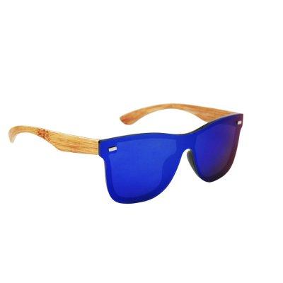 Slnečné okuliare Wayfarer Light Wood full glass BLUE&GREEN
