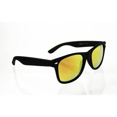 Slnečné okuliare Wayfarer zrkadlové GOLD matné