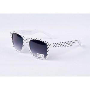 Slnečné okuliare Wayfarer - biele DOTS
