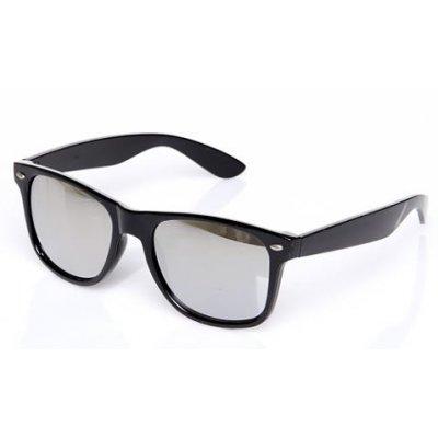 Slnečné okuliare Wayfarer zrkadlové SILVER matné