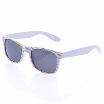 Slnečné okuliare Wayfarer Rainbow biele