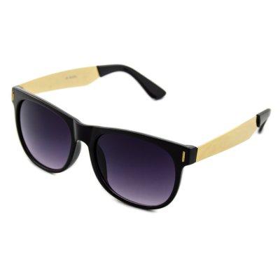 Slnečné okuliare Wayfarer - Boss style zlaté