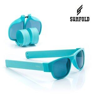Skladacie slnečné okuliare Roll-up Sunfold ST1 - Turquoise