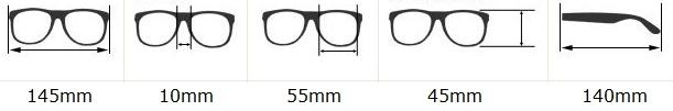 rozmery okuliarov wayfarer