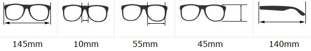 rozmery okuliarov wayfarer. Slnečné okuliare Wayfarer - celebrity 191023dbb1c
