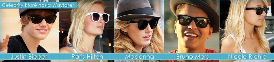 Slnečné okuliare Wayfarer a celebrity