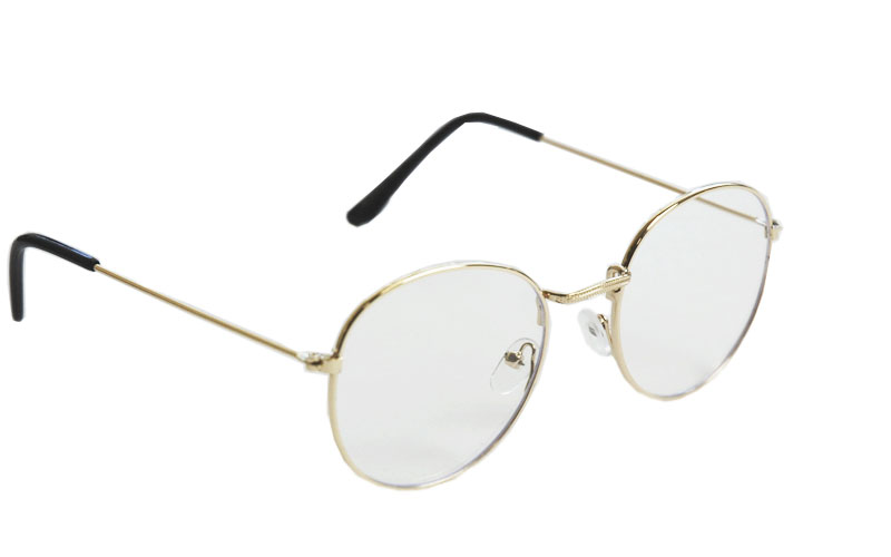Okuliare na počítač Blue Light Round Pilot Style GOLD