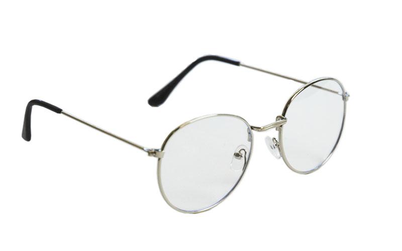 Okuliare na počítač Blue Light Round Pilot Style SILVER