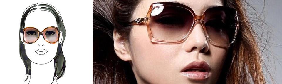 Slnečné okuliare - podlhovastá tvár