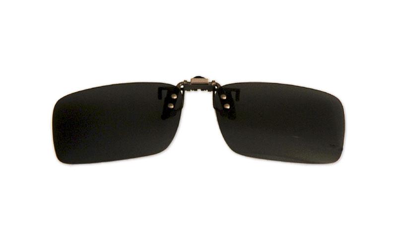 Polarizačný klip na okuliare - čierny - 3,9 cm x 13,5 cm